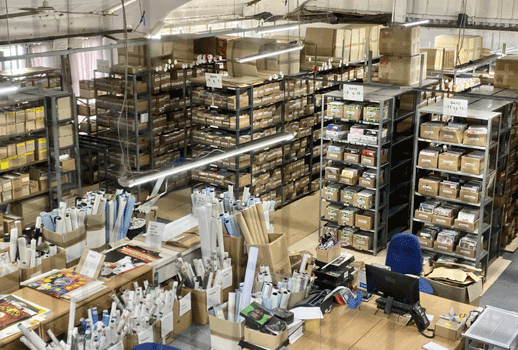 Our warehouse - we have a LOT of stock