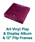 "Art Vinyl Play & Display Album & 12"" Flip Frames"